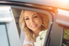 La sposa il giorno del suo matrimonio Immagini Stock Libere da Diritti