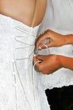 La sposa prima della cerimonia Fotografie Stock Libere da Diritti