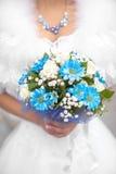 La sposa tiene il mazzo Fotografie Stock