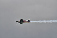 La squadra aerobatic della visualizzazione delle lamierine Fotografia Stock