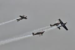 La squadra aerobatic della visualizzazione delle lamierine Fotografie Stock Libere da Diritti