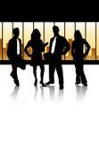 La squadra di affari illustrazione di stock