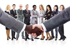 La squadra di affari si è formata di giovani persone di affari Immagine Stock Libera da Diritti