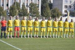 La squadra di football americano nazionale delle donne della Svezia Immagini Stock Libere da Diritti