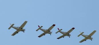 La squadra di formazione dei vincitori - aerei di Acrobatics fotografia stock libera da diritti