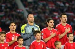La squadra nazionale ungherese Immagini Stock