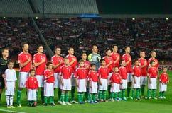 La squadra nazionale ungherese Immagine Stock