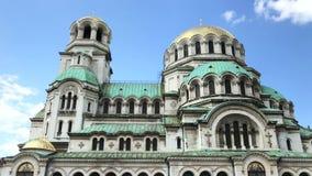 La st Alexander Nevsky Cathedral stock footage