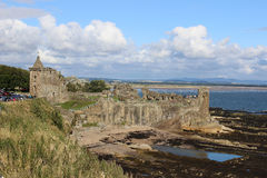 La st Andrews Castle rovina la st Andrews Fife, Scozia Immagini Stock