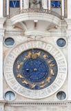 La st contrassegna l'orologio astronomico Immagine Stock Libera da Diritti