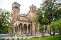 La st della chiesa ortodossa segna Belgrado fotografia stock libera da diritti