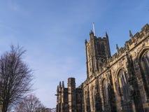 La st Marys, chiesa del priore di Lancaster è vicina dal castello sopra la città in Inghilterra fotografie stock