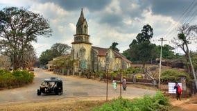 La st segna la chiesa, Madikeri, India Fotografia Stock Libera da Diritti