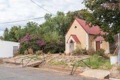 La st segna la cappella della Chiesa Anglicana in Calitzdorp Immagine Stock Libera da Diritti
