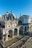 La st sommersa segna il quadrato a Venezia, Italia Immagini Stock Libere da Diritti