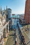 La st sommersa segna il quadrato a Venezia, Italia Immagine Stock Libera da Diritti