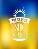 La stagione del manifesto di piacere e di Sun progetta Fotografie Stock Libere da Diritti