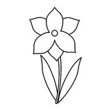 La stagione primaverile del fiore del narciso assottiglia la linea illustrazione di stock