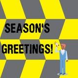 La stagione S di rappresentazione del segno del testo è saluti Foto concettuale usata come espressione di benevolenza durante i f royalty illustrazione gratis