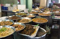La stalle asiatique de nourriture Photographie stock libre de droits