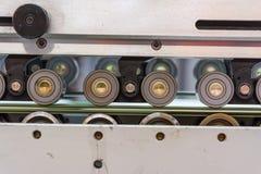 La stampa dell'industria di imballaggio allinea l'attrezzatura Q della tecnologia della fabbrica Fotografia Stock Libera da Diritti