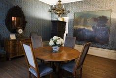 La stanza blu in Goethe& x27; birthhouse di s a Francoforte immagine stock