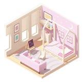 La stanza dei bambini isometrica di vettore royalty illustrazione gratis