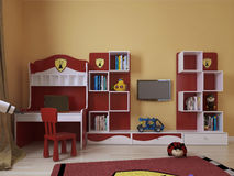 La stanza dei bambini in uno stile moderno Fotografie Stock Libere da Diritti