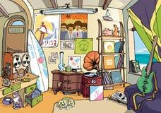 La stanza del surfista Immagine Stock