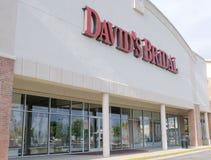 La stanza frontale di negozio nuziale di David Immagine Stock Libera da Diritti