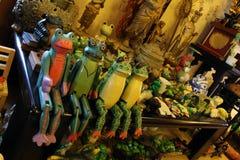 La stanza in pieno della roba della rana a Fotografia Stock
