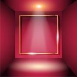 La stanza rossa illustrazione di stock