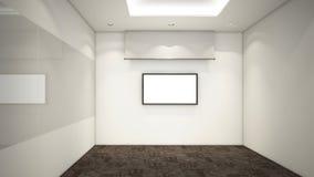 La stanza vuota moderna, 3d rende l'interior design, derisione sul illustrati Immagine Stock Libera da Diritti