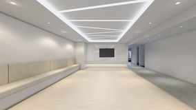 La stanza vuota moderna, 3d rende l'interior design, derisione sul illustrati illustrazione di stock