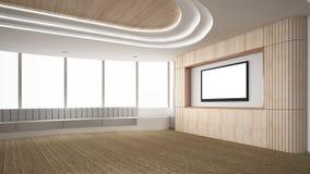 La stanza vuota moderna, 3d rende l'interior design, derisione sul illustrati Immagine Stock