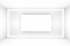 La stanza vuota semplice bianca astratta evidenzia il futuro Il fondo architettonico ci usa contesto illustrazione 3D e Fotografia Stock