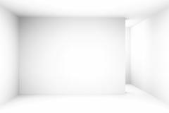 La stanza vuota semplice bianca astratta evidenzia il futuro Il fondo architettonico ci usa contesto illustrazione 3D e Immagine Stock