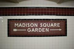 La station de métro de Madison Square Garden, NYC Photos libres de droits