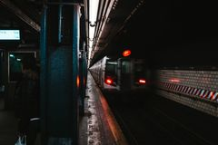 La station de m?tro de New York images libres de droits
