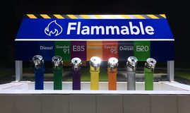 La station de réservoir de gaz inflammable image libre de droits