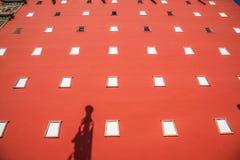La station de sports d'hiver de Chengde dans la province de Hebei Putuo par le temple du rouge et le manteau dominent Images libres de droits
