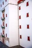 La station de sports d'hiver de Chengde, Putuo, province de Hebei, par la Maison Blanche Pingtiao domine Images libres de droits