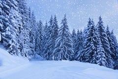 La station de sports d'hiver de montagnes Zell-être-Voient l'Autriche Image libre de droits