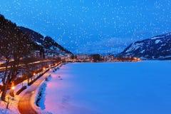 La station de sports d'hiver de montagnes Zell AM voient - l'Autriche Photos libres de droits