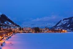 La station de sports d'hiver de montagnes Zell AM voient - l'Autriche Photographie stock