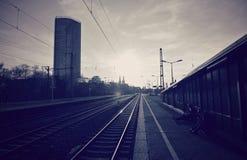 La station de train de Cologne, Allemagne Images stock