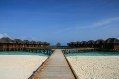 La station de vacances en Maldives Images libres de droits