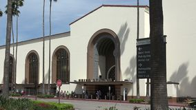 La station historique des syndicats ? Los Angeles banque de vidéos