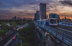 La Station terminale Mo Chit, Bangkok photo stock