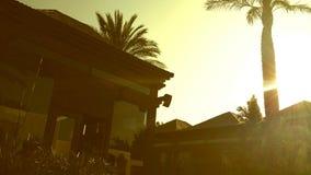 La station thermale de coucher du soleil d'Ibiza détendent le jour Photo libre de droits